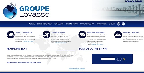 Site web de transport